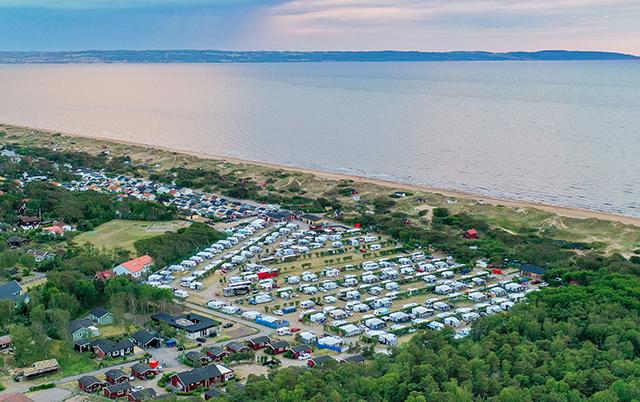 Mellbystrands, camping vid havet