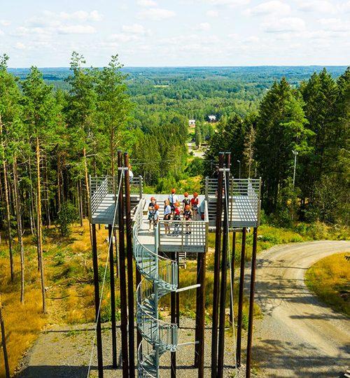 Kungsbygget Äventyrspark zipline