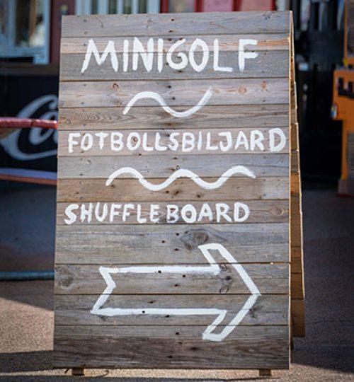 Minigolf på Mellbystrands camping